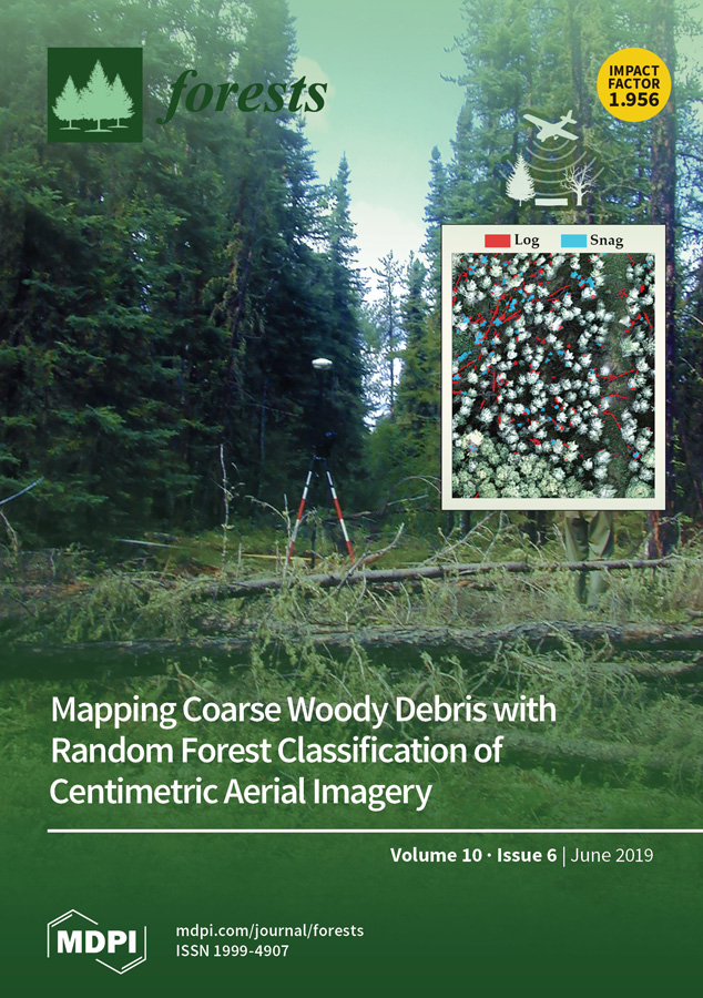 Front-cover image of Forests journal featuring my paper.